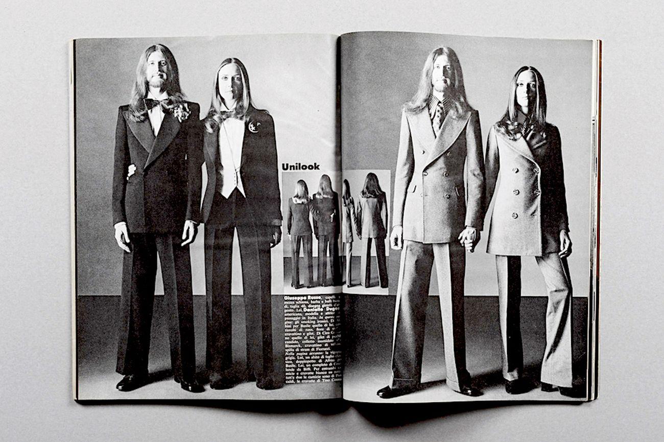 Oliviero Toscani, Unilook. Lui e lei alla stessa maniera, L'uomo Vogue, 1971-72