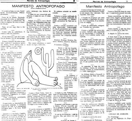 Oswald de Andrade, Manifesto Antropófago, 1928