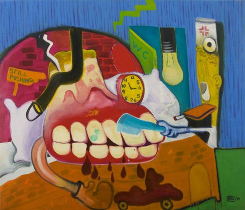 Peter Saul, Sickroom, 1964. Courtesy Mary Boone Gallery, New York
