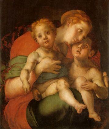 Pontormo, Madonna col Bambino e San Giovannino, 1534-36. Firenze, Gallerie degli Uffizi