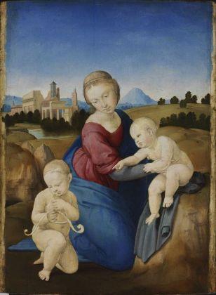 Raffaello, Madonna col Bambino e san Giovannino (Madonna Esterházy), 1508 ca. Budapest, Szépművészeti Múzeum © Szépművészeti Múzeum - Museum of Fine Arts Budapest