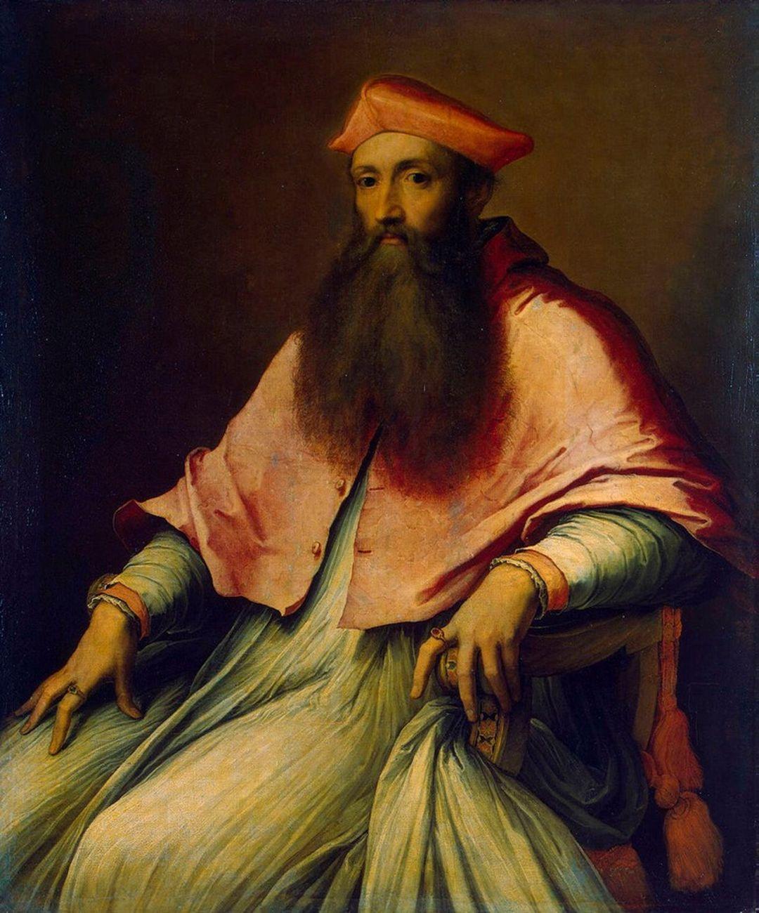 Sebastiano del Piombo, Ritratto del Cardinale Reginald Pole, 1540. San Pietroburgo, Museo dell'Ermitage
