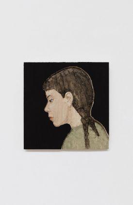 Stephan Balkenhol, Woman with braid, 2017. Courtesy Galleria Monica De Cardenas, Milano. Photo credit Andrea Rossetti
