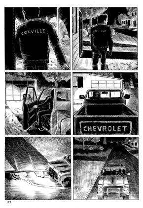 Steven Gilbert – Colville (Coconino Press, Bologna 2017). Pagina 102