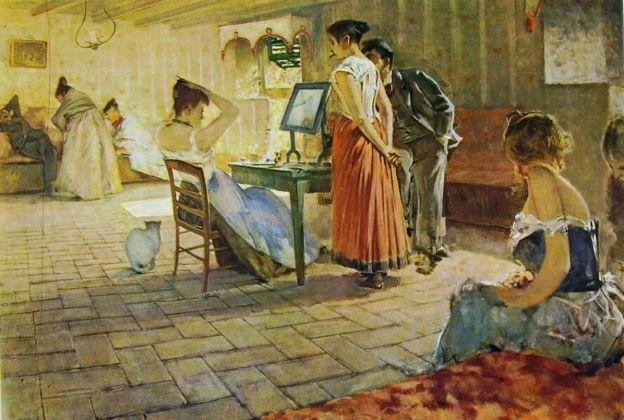Telemaco Signorini, La toilette del mattino, 1898. Collezione privata