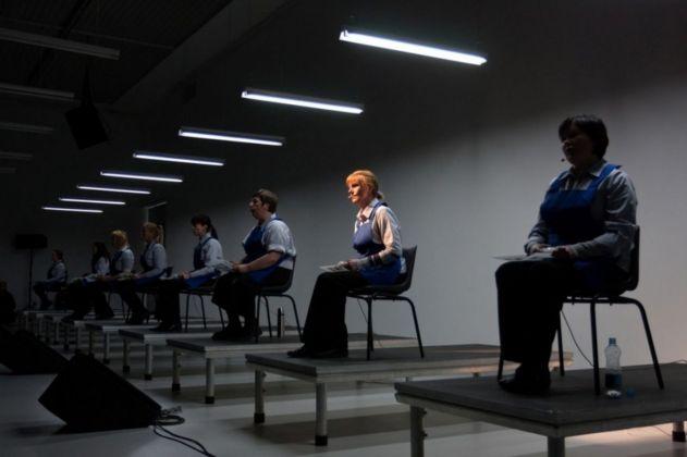 Theatre performance Have a Good Day! Vaiva Grainytė, Lina Lapelyte, Rugilė Barzdžiūkaitė. Photo Kestutis Serulevicius