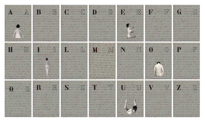 Tomaso Binga, Alfabeto vocalico, 1975