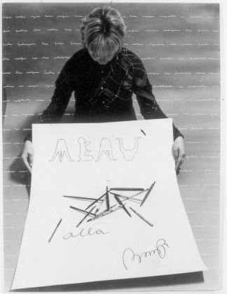 Tomaso Binga, Penne alla Binga, fotografia dell'azione 1977