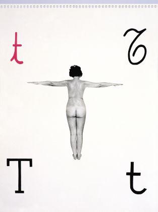Tomaso Binga, dalla serie Alfabetiere murale, 1976