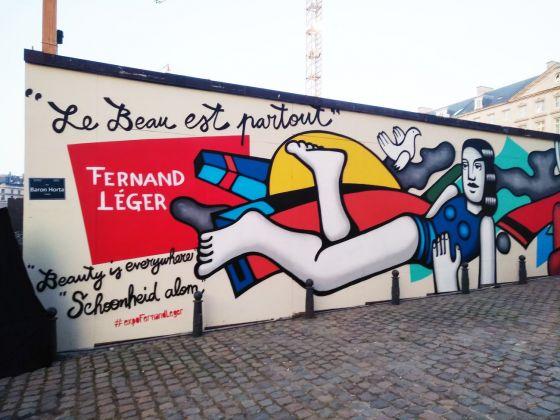 Veduta dei graffiti del collettivo Farm Prod di fronte al BOZAR. Foto Daniele Perra