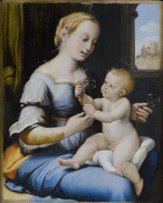 da Raffaello, Madonna col Bambino (Madonna dei garofani), XVI sec. Roma, Gallerie Nazionali di Arte Antica di Roma, Palazzo Barberini