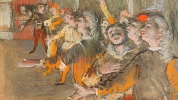 Edgar Degas, Les Choristes, 1877