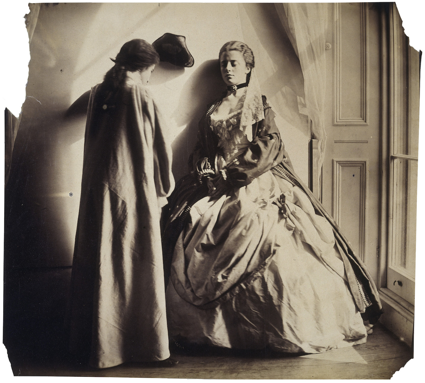 Photographic Study (Clementina and Isabella Grace Maude) by Clementina Hawarden, 1863-4. Copyright National Portrait Gallery