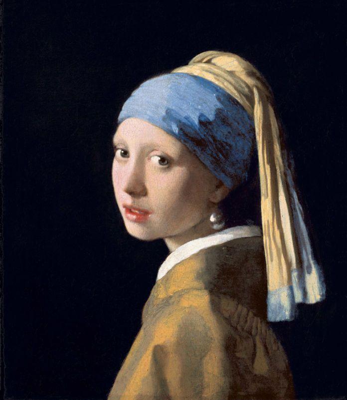 Johannes Vermeer, La ragazza con l'orecchino di perla, 1665 circa olio su tela, cm 44,5 x 39 L'Aia, Gabinetto reale di pitture Mauritshuis lascito di Arnoldus Andries des Tombe, L'Aia, 1903 (Inv. n. 670) © L'Aia, Gabinetto reale di pitture Mauritshuis
