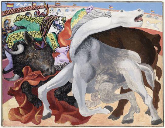 Pablo Picasso, Corrida : la mort du toréro, 19 septembre 1933, huile sur bois, 31 x 40 cm, Musée national Picasso-Paris, MP145 ©RMN-Grand Palais / Mathieu Rabeau ©Succession Picasso 2018