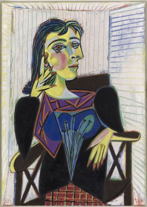 Pablo Picasso, Portrait de Dora Maar, Paris, 1937, huile sur toile, 92 x 65cm, Musée national Picasso- Paris, MP158 ©RMN-Grand Palais / Mathieu Rabeau ©Succession Picasso 2018