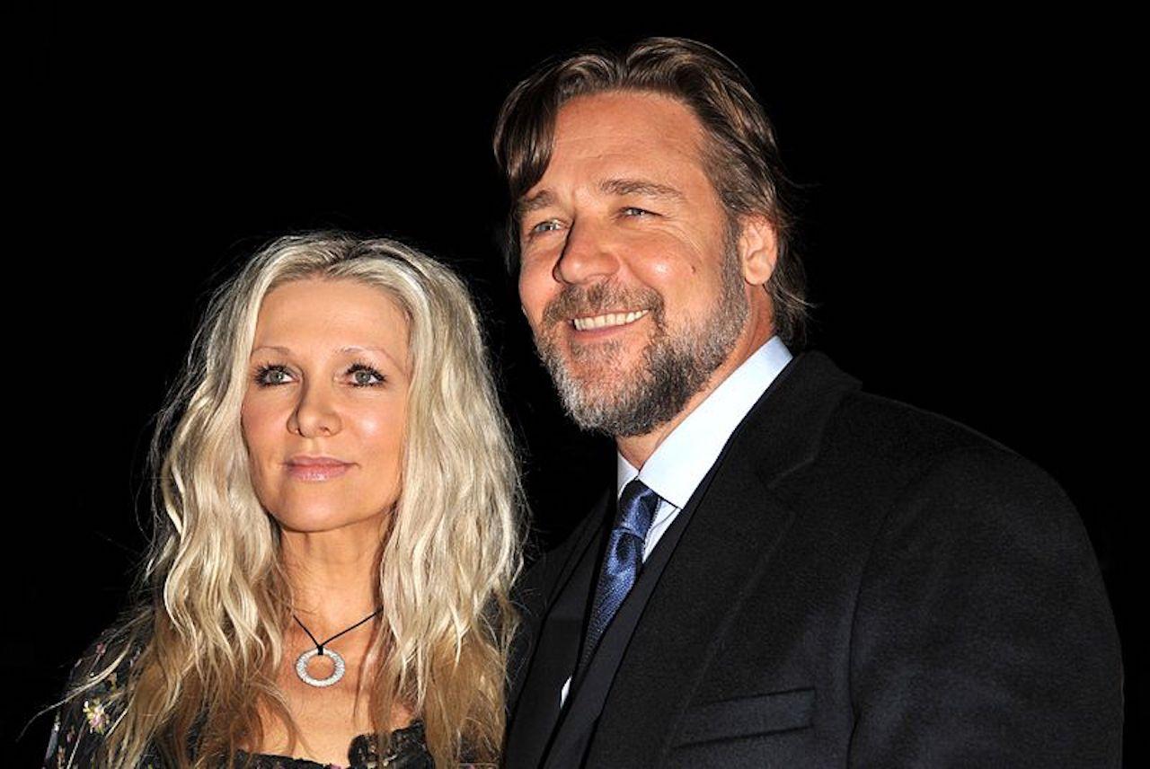 Russell Crowe con la ex moglie Danielle Spencer