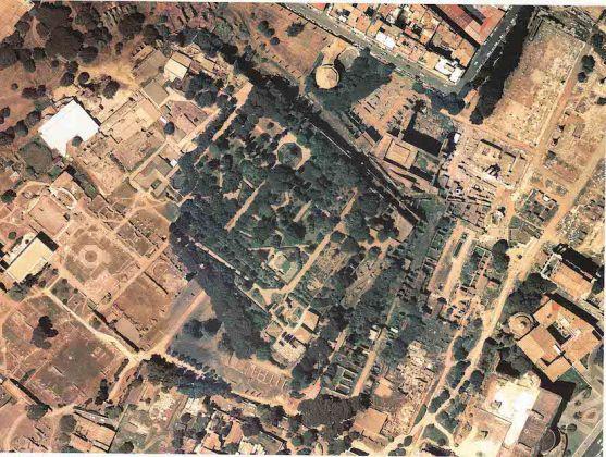 Veduta aerea del Palatino BiASA- Biblioteca di Archeologia e Storia dell'Arte, Fondo Rodolfo Lanciani, Roma