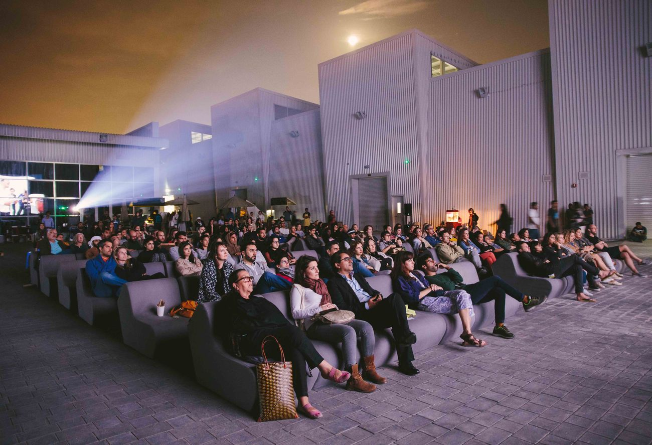 A screening in The Yard at Alserkal Avenue, Dubai. Photo credit Angelo Aguilar. Courtesy Alserkal Avenue