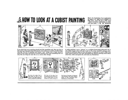 Ad Reinhardt, How to Look at a Cubist Painting, 1946. Courtesy David Zwirner, New York London-Hong Kong
