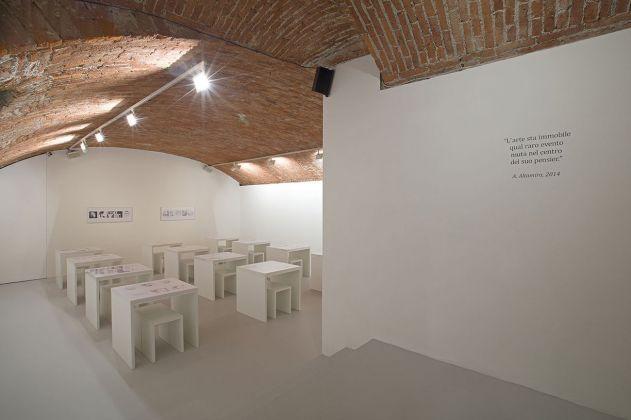 Adriano Altamira. Conceptual Rigoletta. Installation view at Fondazione Marconi, Milano 2018