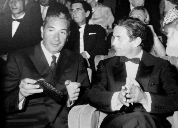 Aldo Moro e Pier Paolo Pasolini alla Biennale del cinema di Venezia, 1967. Proiezione di Edipo Re