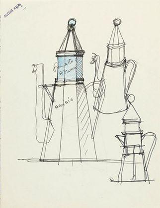 Aldo Rossi, Il Conico e La Conica, 1983. Courtesy Fondazione Aldo Rossi