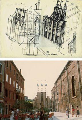 Aldo Rossi, Portale d'ingresso, Mostra di Architettura della Biennale di Venezia, 1980. Courtesy Fondazione Aldo Rossi
