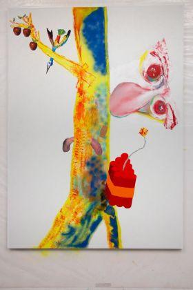Alessandro Pessoli, A, 2017. Courtesy Xavier Hufkens Gallery, Brussels