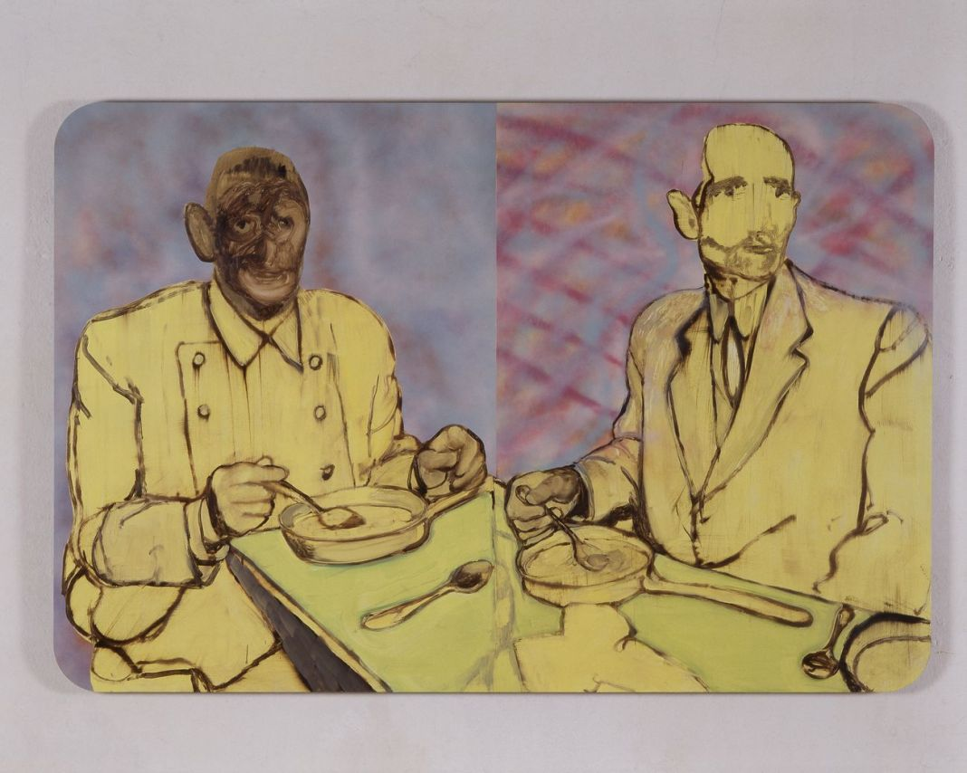 Alessandro Pessoli, Assassini che mangiano, 2005-06. Courtesy Xavier Hufkens Gallery, Brussels