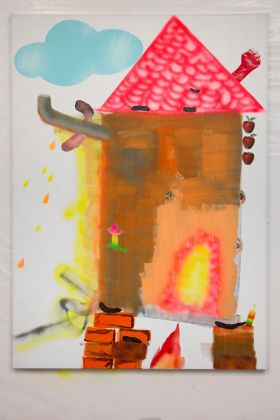Alessandro Pessoli, P, 2017. Courtesy Xavier Hufkens Gallery, Brussels