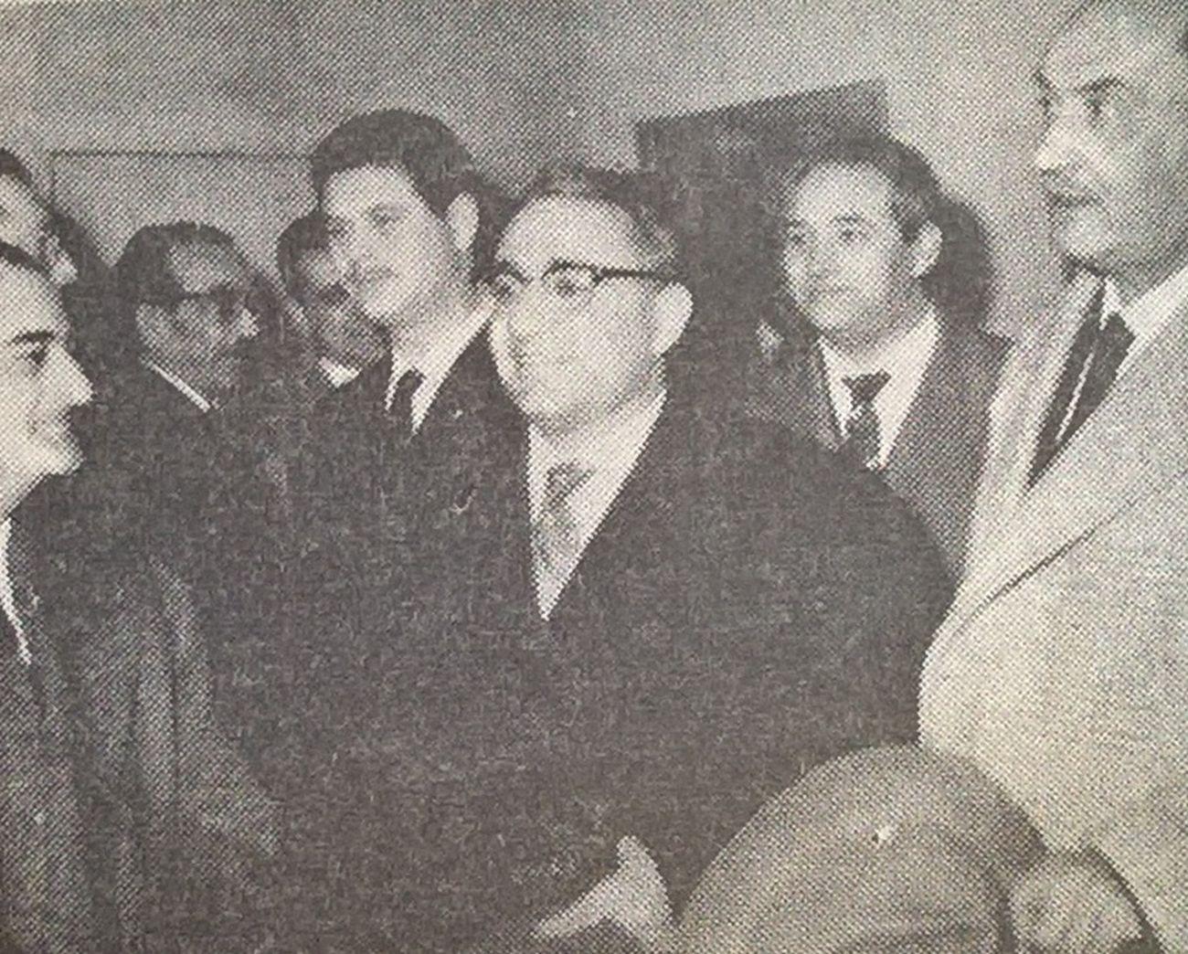Alfredo Del Greco, Giuseppe De Gregorio, Vacre Verrocchio, Piero Raspi ed Elio Di Blasio. Il Tempo ed. di Pescara, 12 gennaio 1960