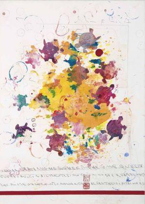 Alighiero Boetti, Senza titolo (Tartar tartarughe rughe e righe…), 1990