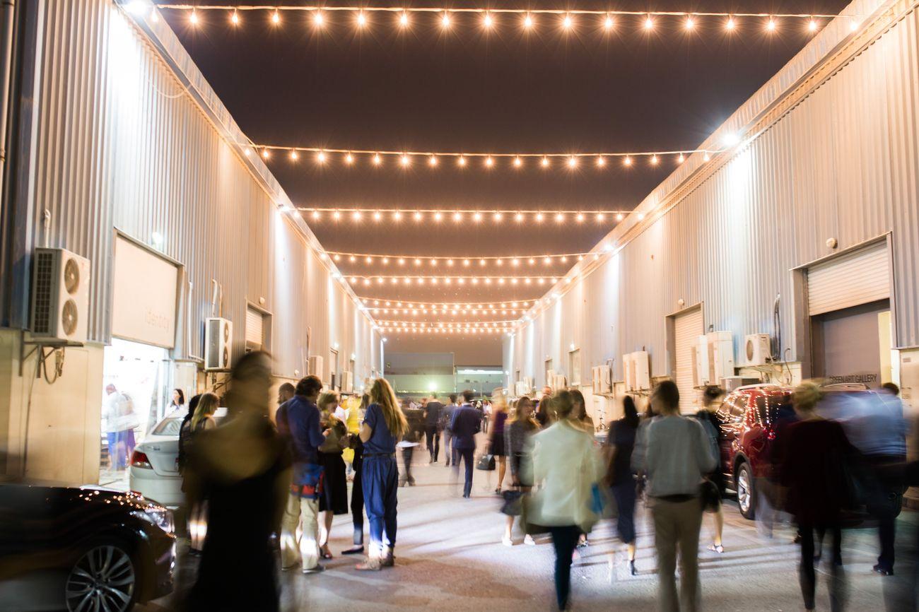 Alserkal Avenue Galleries Night. Photo courtesy Alserkal Avenue