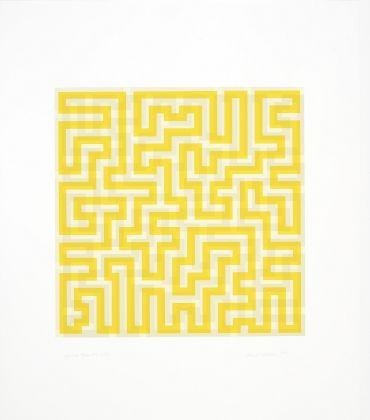 Anni Albers Yellow Meander 1970 serigrafia 2018 The Josef and Anni Albers Foundation