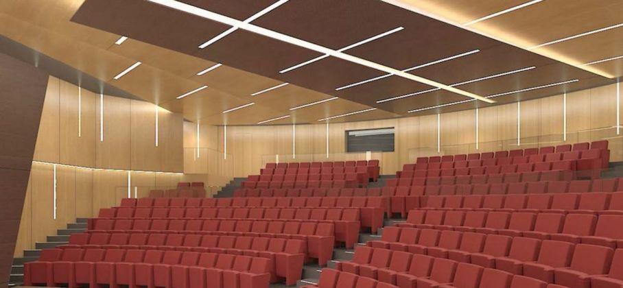 Auditorium, rendering, MANN, Napoli