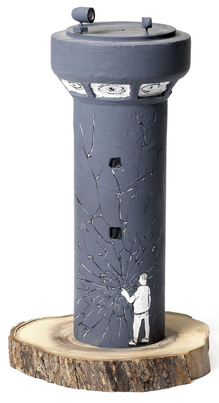 Banksy & Blu, watchtower