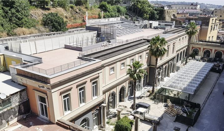 Cantiere al MANN di Napoli