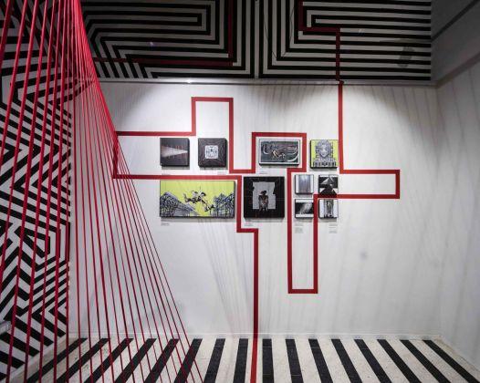 Cecilia Anselmi & Motorefisico. Concetto Lineare. Exhibition view at dMake, Roma 2018