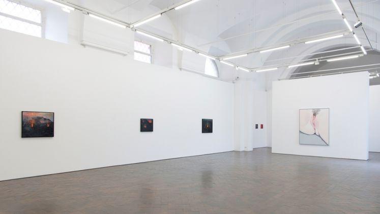 Celia Hempton. Breach. Installation view at Galleria Lorcan O'Neill, Roma 2018