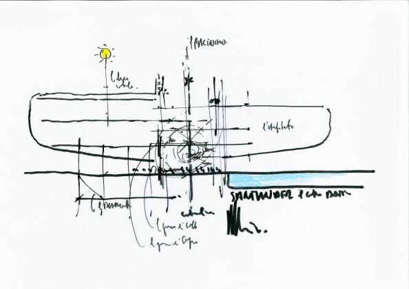 Centro Botìn, Santander, Renzo Piano's sketch – Final sketch © Renzo Piano Building Workshop