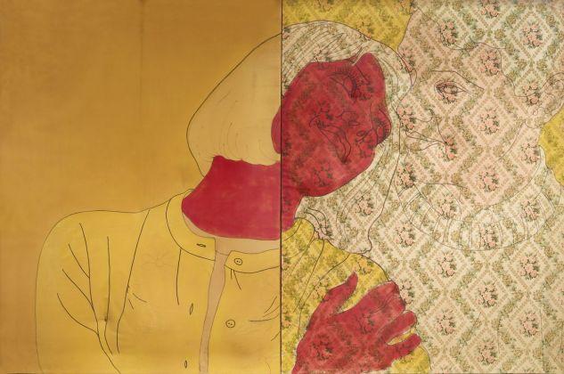 Cesare Tacchi, I fidanzati, 1965. Lillo Collection, Parigi. Photo Archivio Cesare Tacchi