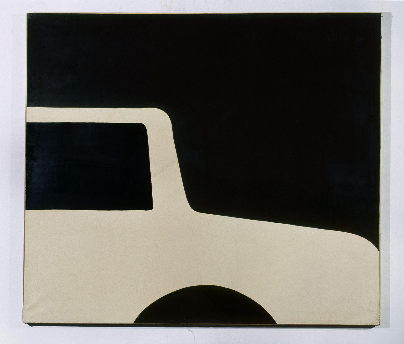 Cesare Tacchi, Struttura bianca su nero, 1962. Collezione privata, Roma. Photo Salvatore Piermarini - Archivio Cesare Tacchi