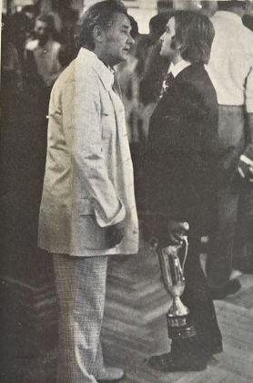 Elio Di Blasio e Cesare Manzo. Gazzetta di Pescara, 3 ottobre 1971. Photo G. Jammarrone, courtesy P. Jammarrone