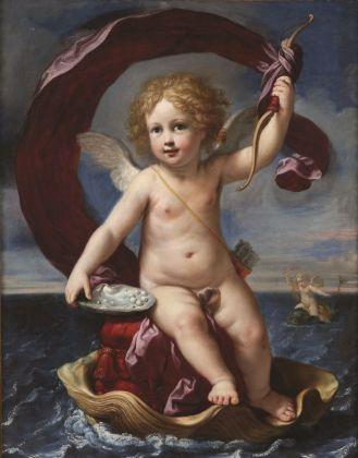 Elisabetta Sirani, Amorino trionfante in mare (Amorino Medici), 1661. Bologna, Collezione privata