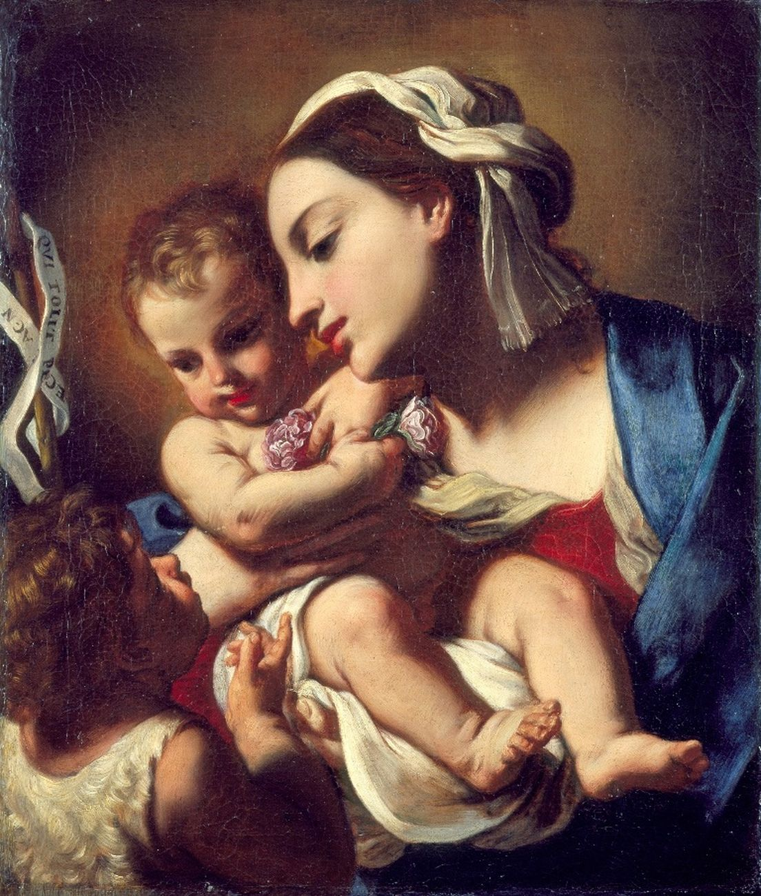 Elisabetta Sirani, Madonna col Bambino e San Giovannino, 1664. Pesaro, Musei Civici – Palazzo Mosca