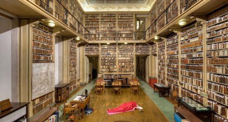 Eugenio Ampudia, Dónde dormir. Biblioteca Nacional