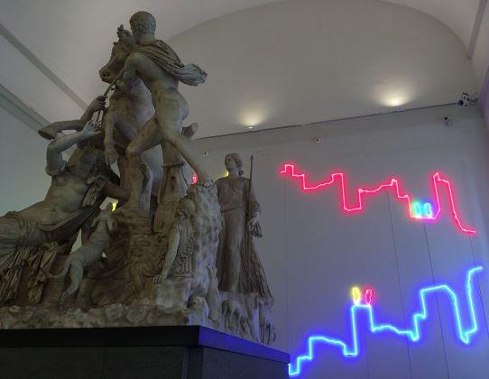 Francesco Candeloro, Proiezioni, 2017. Museo Archeologico Nazionale di Napoli
