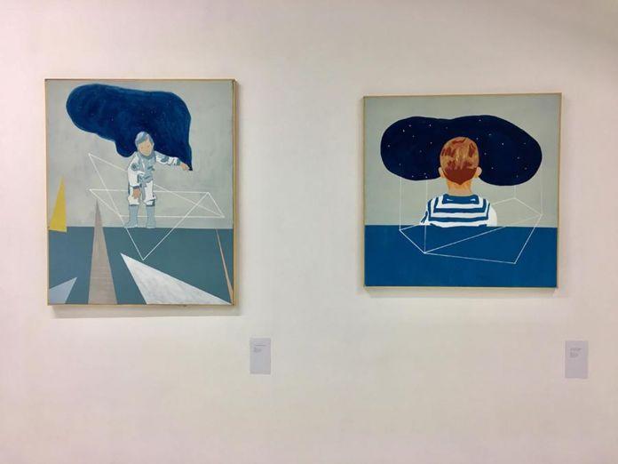 Francesco Liggieri. Volevo fare l'astronauta. Installation view at Basement Project Room, Fondi 2018