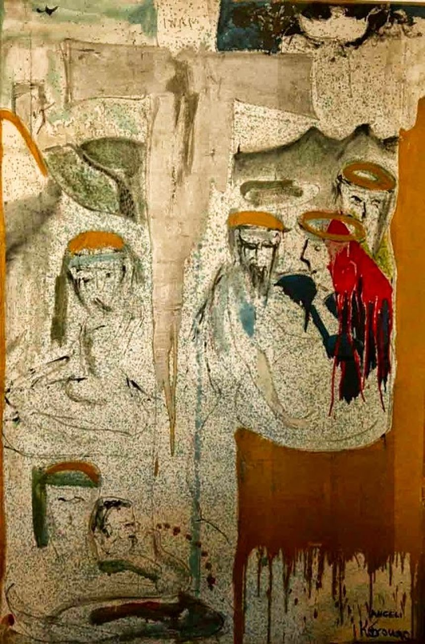 Franco Angeli e Jack Kerouac, Deposizione di Cristo, 1966